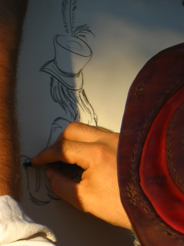 Jonathan Sketches Iris