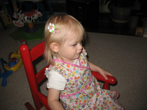 Inital Barrette from Baby K Designs