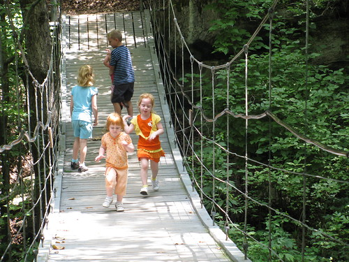 Running on the Suspension Bridge