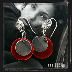 orecchini rossi - red earrings INZECCH