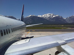 Boarding Our 757 at Jackson Hole