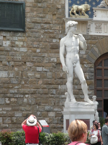 The Reproduction of Michelangelos David that stands in the Piazza del Signoria