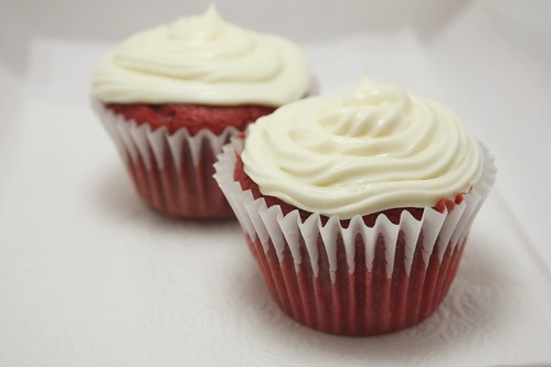 Red Velvet Cupcakes w/ Cream Cheese Icing