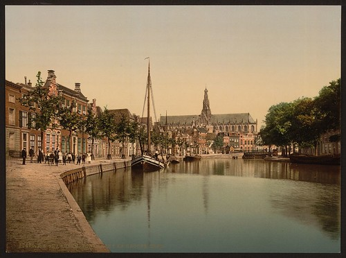 [Peat Market and Great Church, Haarlem, Holland] (LOC)