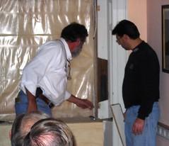 Carpenters Demonstrate Window Weight Pockets