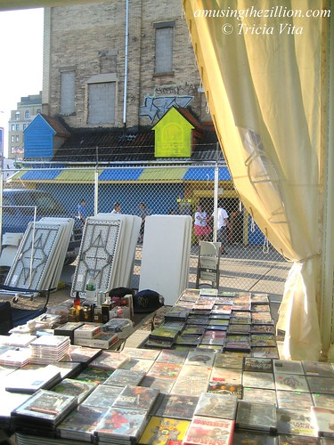 More used DVD's at Joe Sitt's Flea Flop. July 12, 2009. Photo © Tricia Vita/me-myself-i via flickr