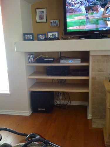 Unpainted TV Shelves