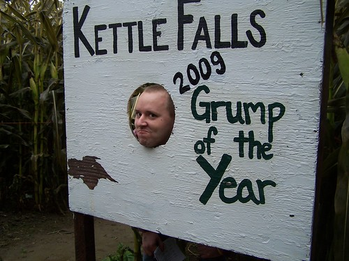 Hummm Is Matt the Grump of the year? (a real billboard in a washington town where they vote a grump of the year