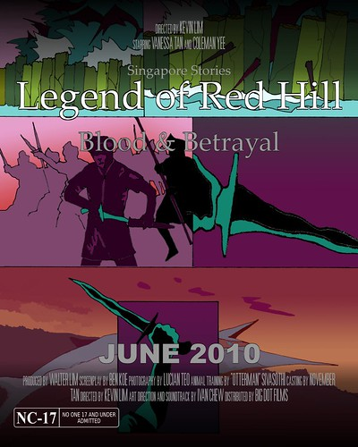 Fake movie poster: Legend of Red Hill
