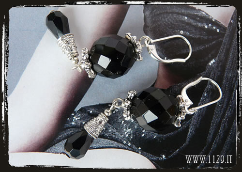 Orecchini neri - Black earrings IENESFA