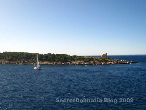 Hoste island at the very entrance to Vis harbor