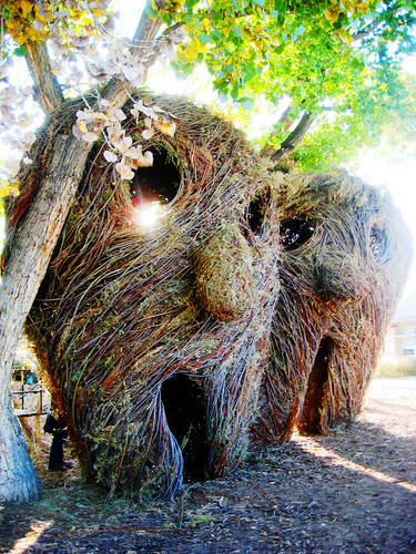 patrick dougherty masks (one)