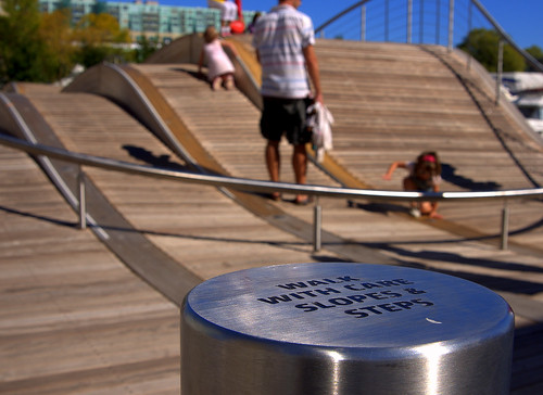 They even have a wheelchair accessible section of the wave deck...