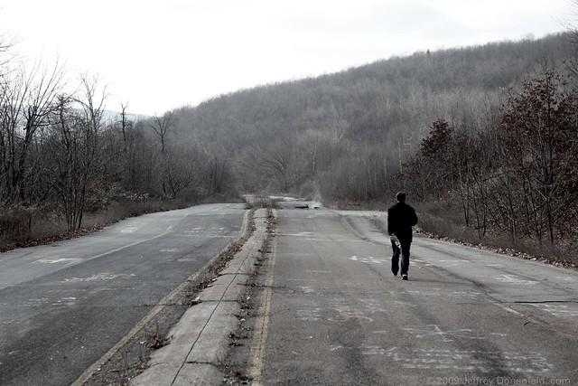 NIck on the abandoned highway
