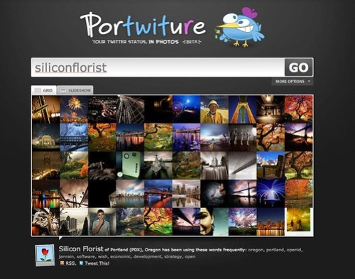 Portwiture: Twitter and Flickr mashup