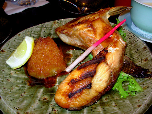 Grilled Hamachi Jaw, Daikon