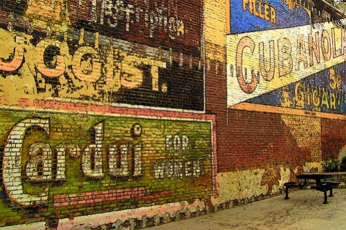"""""""Ghost Sign Wall"""" by lewsviews"""