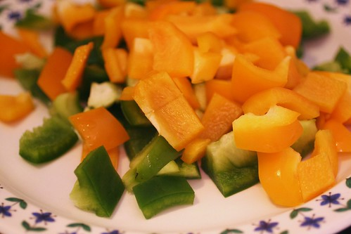 Yellow and Green Bell Peppers