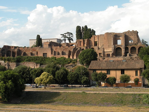 A view of Palantine Hill from the Circus Maximus side.