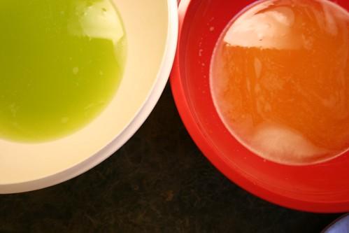 Summer-colored liquids