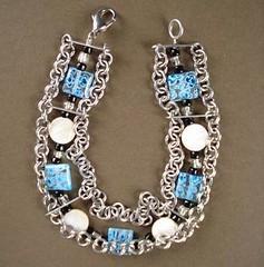 chain maille millefiore bracelet