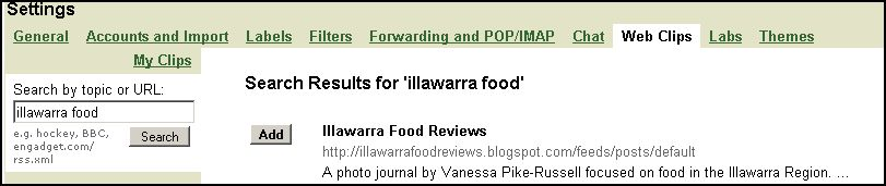 How to add Illawarra Food Reviews to your Gmail