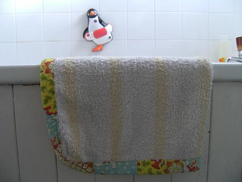 old towel = new bath rug