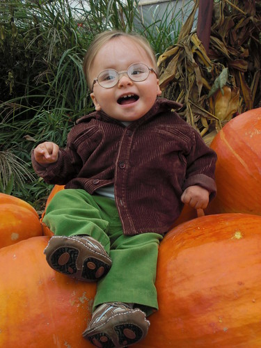 Yay for sitting on pumpkins!