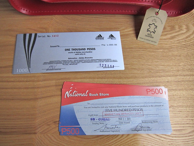 Adidas and National Bookstore GCs