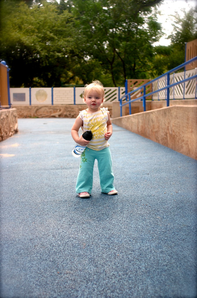 have water bottle. will own playground.