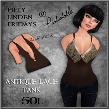 Pididdle - 50L Week 10 - Antique Lace Tank