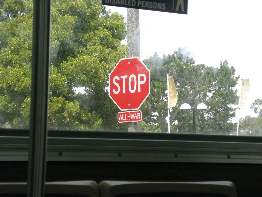 Stop All War Sign
