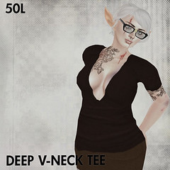 50L Friday - Week 15 - This is a Fawn - Deep V-Neck Tee