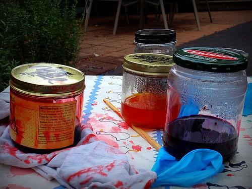 dye jars