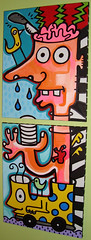 Migraine headache painting