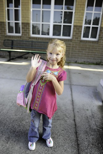 dropping Hope off at school