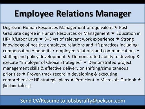 Employee Relations Manager
