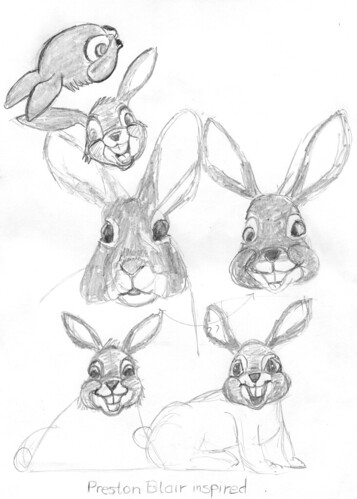 Preston Blair inspired drawings, part 10