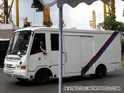 Bomb squad van