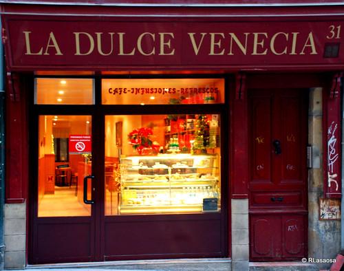 """Cafetería """"La Dulce Venecia"""", en la calle Mercaderes"""