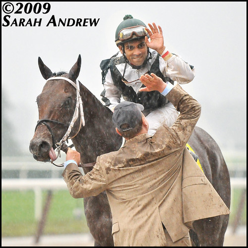 Kodiak Kowboy, Scott Blasi, Shaun Bridgmohan after the Vosburgh