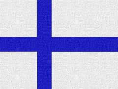 Finland's Flag Looking Like Canvas