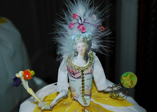 French-inspired paper-mache doll