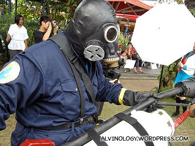 NEA cosplay representative, tasked to eliminate dengue mosquitoes