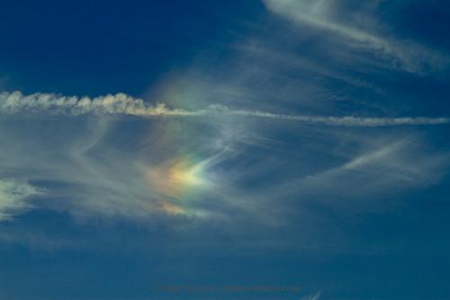 Circumhorizontal Arc (fire rainbow) over Miami...
