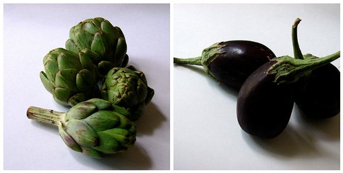 artichokes + eggplants