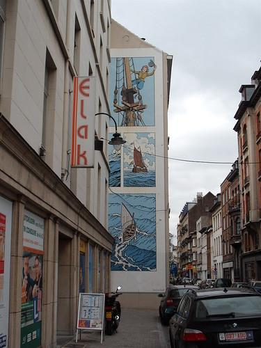 Brussels comic wall