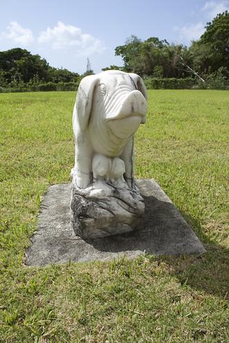 Chinese Cemetery zodiac boar statue