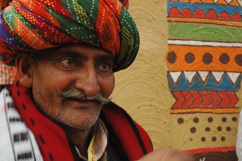 The Dholl singer, Mewat, Rajasthan, India