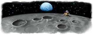 Google Moon Landing Logo by rustybrick.